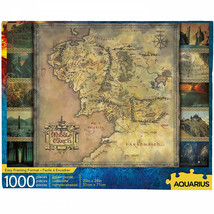 Lord of the Rings Middle Earth Map 1000 Piece Jigsaw Puzzle Multi-Color - $29.98