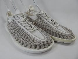 Keen Uneek Leather Sandals Men's Size US 9 M (D) EU 42 Gray / Star White $110