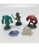 Disney Infinity-  3 Figures, 1 Crystal & 1 Power Disc- Untested. - $9.48