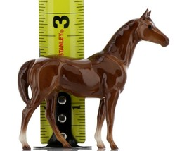 Hagen Renaker Miniature Horse Thoroughbred Race Swaps Ceramic Figurine Boxed image 2