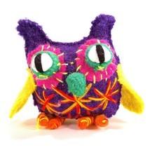 Bright Colorful Owl Figure Uzbekistan Stuffed Figurine Boiled Wool Funny... - $11.94