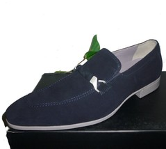 Suede Lining Rubber Blue Real 12 Size Shoes Genuine Loafer Hugo Men Boss Sole US FwqnxYnXpz