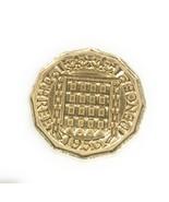 1953 65th Birthday Threepence 65th birthday 1953 threepence coin polished - €3,78 EUR