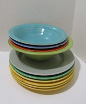 Crafts Vintage Homer Laughlin Harlequin Dishes Chipped Useable or Mosaic Craft - $14.25
