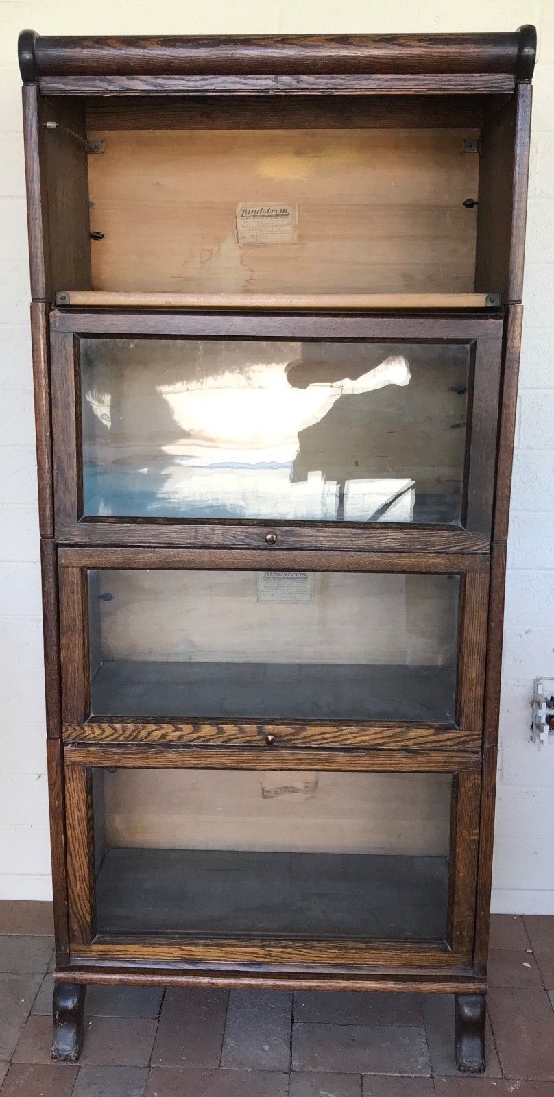 Antique Oak Barrister Bookcase 4 Sections And 46 Similar Items