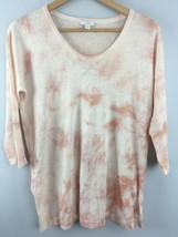 PureJill Linen Blend Top Shirt XS Pink Tie Dye Loose Fit Tunic J Jill - $19.80