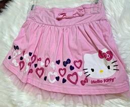 Hello Kitty Girls sz 7 8 pink Skirt with Toule Hem - £5.58 GBP