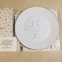 "Avon 1985 ""A Child's Christmas"" Porcelain Collector's Plate Trimmed in 24K Gold - $7.91"