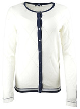 Tommy Hilfiger Womens Long Sleeve Cardigan White Sweater, S, 4899-3 - $52.52 CAD