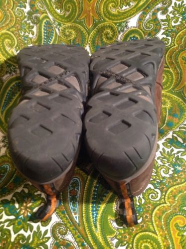 MERRELL MEN'S JUNGLE MOCS SIZE 9M BROWN NUBUCK LEATHER LOAFERS SHOES