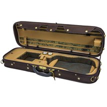 Sky Violin Oblong Case VNCW05 Solid Wood with Hygrometers Coffee/Khaki - $138.59