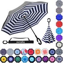 Zameka Double Layer Inverted Umbrellas Reverse Folding Umbrella Windproo... - $48.19