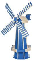 6½ FOOT JUMBO WINDMILL - Blue & Ivory Working Dutch Garden Weathervane A... - $695.60 CAD