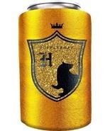 Harry Potter House of Hufflepuff Logo Huggie Can Cooler Koozie NEW UNUSED - $6.89