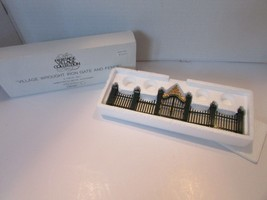 DEPT 56 55140 VILLAGE WROUGHT IRON GATE & FENCE HERITAGE VILLAGE 9 PC  D11 - $16.95