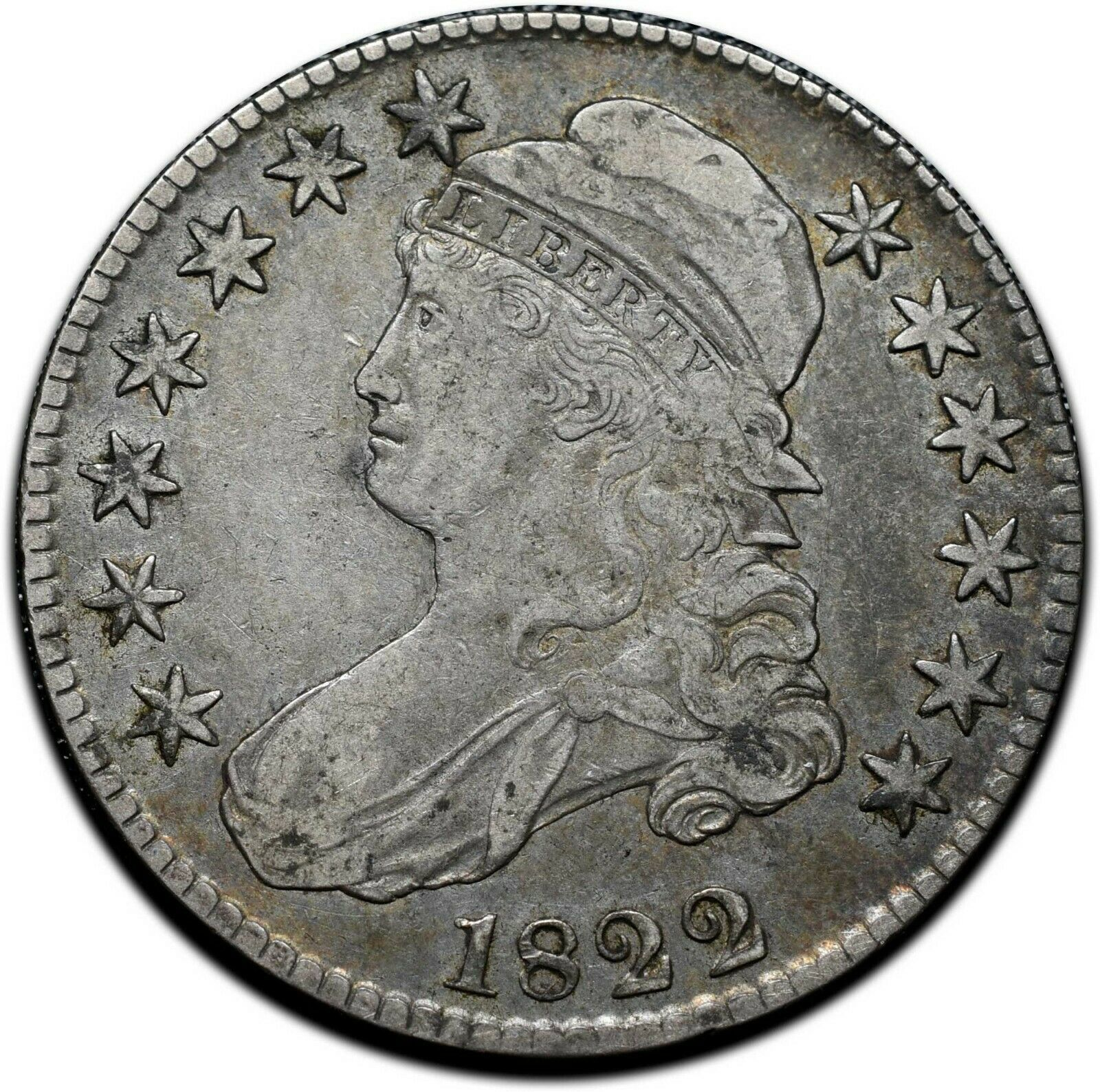 1822 Capped Bust Silver Half Dollar 50¢ Coin Lot# A 388