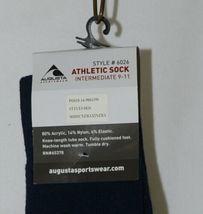 Augusta Sportswear Atheltic Sock Intermediate 9 To 11 Navy Blue 6026 image 3