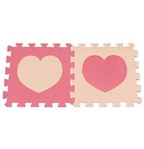 Heart-Shaped Interlocking Foam Mats EVA Foam Floor Mats (10 Tiles) [B]