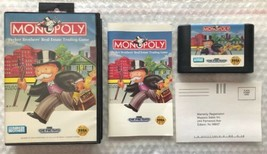 ☆ Monopoly (Sega Genesis 1992) AUTHENTIC Complete in Case Game Tested Wo... - $7.00