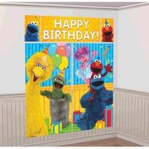 Elmo Turns One Scene Setters Wall Decoration Kit 1st Birthday Party Sesa... - $7.49