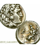 Rare ALEXANDER the Great LIFETIME Coin AU FINEST STYLE Ancient Silver Herakles - $764.10