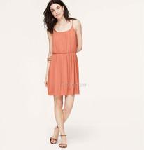 Nwt Ann Taylor Loft Shirred Spaghetti Strap Comfy Perfect Soft Summer Dress Sz M - $39.99