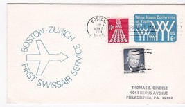 FIRST FLIGHT BOSTON, MASS. - ZURICH MAY 8, 1971 FIRST SWISSAIR SERVICE - $1.98