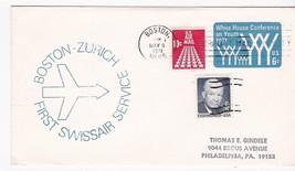 FIRST FLIGHT BOSTON, MASS. - ZURICH MAY 8, 1971 FIRST SWISSAIR SERVICE - $1.98