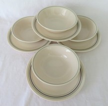 Corelle, Purple & Green Striped Cereal  Bowls & Dessert Plates - $15.00