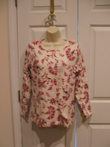 Nwt St Johns Bay 100% Cotton Long Sleeve Casual Knit Top Petite Large - $12.61