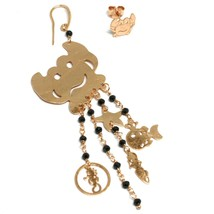 Drop Earrings 925 Silver, Crab, Mermaid, Little Seahorse Marine, le Favole image 1
