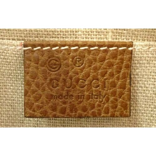 NEW Gucci Beige Brown GG Guccissima Leather Bree Crossbody Camera Shoulder Bag