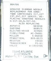 809-DS73 STEREO TURNTABLE NEEDLE for SONOTONE 21T SONOTONE 22T SONOTONE 35T 43T image 2