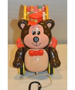 Vintage 1987 Bear Pull Toy with Ferris Wheel by McCrory Corp - $26.42