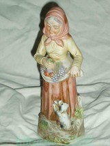 Homco Old Farm Woman Figurine #1417 Home Interiors - $9.99