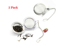 2 Pack Tea Ball Strainer Infuser - Stainless Steel Mesh Filter Herb Leafs Spice - $6.34