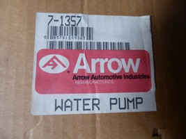 25525147 GM Water Pump, Remanufactured By Arrow 7-1357 image 2