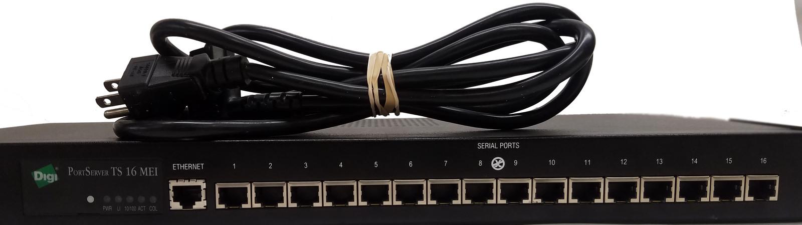 Digi PortServer TS 16 MEI 50000777-06Terminal Console Server Bin: 2