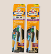 Lot Of 2 - Arm & Hammer Spinbrush Pro+ Gum Health 4 Replacement Heads Soft - $22.16