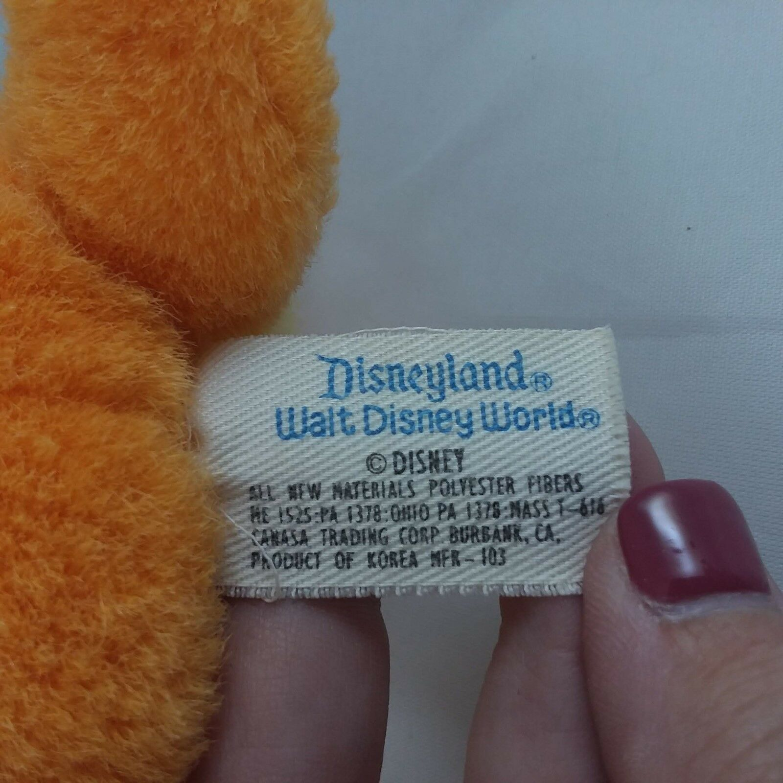 "Disneyland Vintage 6"" Lady Stuffed Animal Plush Dog Lady & the Tramp FREE SHIP!!"