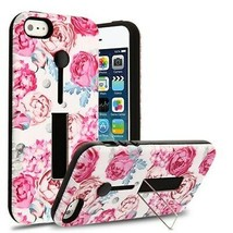 For APPLE iPhone SE/5S/5 Victorian Flower/Black Finger Grip Hybrid Case ... - $11.07