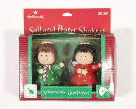 Hallmark Christmas Angel Salt and Pepper Shakers Plastic New In Box - $12.95