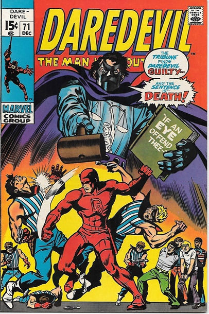 Daredevil Comic Book #71 Marvel Comics 1970 VERY FINE+