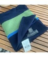 BANANA Republic 100% Wool Scarf Striped Navy Blue NEW - $24.70