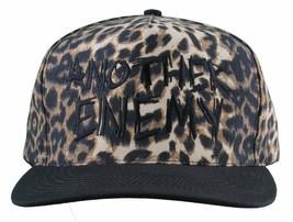 Another Enemy Unisex Safari Leopard Print Adjustable Snapback Baseball Hat NWT