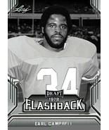 "EARL CAMPBELL 2019 LEAF DRAFT ""1978 FLASHBACK"" ROOKIE CARD! HOUSTON OILERS! - $2.93"