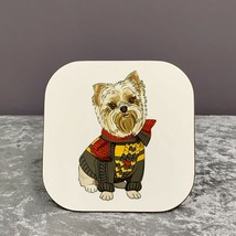 West Highland Terrier Coaster,Gifts For Dog Lovers,Mothers Day Gifts,Dog Gifts - $6.80