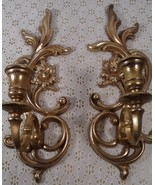 Two Vintage Wall Sconces By Syroco 3933 - $24.70