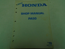 1978 HONDA PA50 PA 50 Service Shop Repair Manual Factory OEM Book HC6775... - $47.51