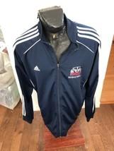 MENS XXLarge Adidas Basketball Zip Front Warm Up Jacket Brock Badgers Basketball - $24.74